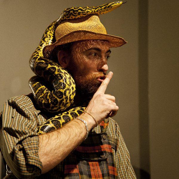 French e un'anaconda all'inaugurazione di Eden